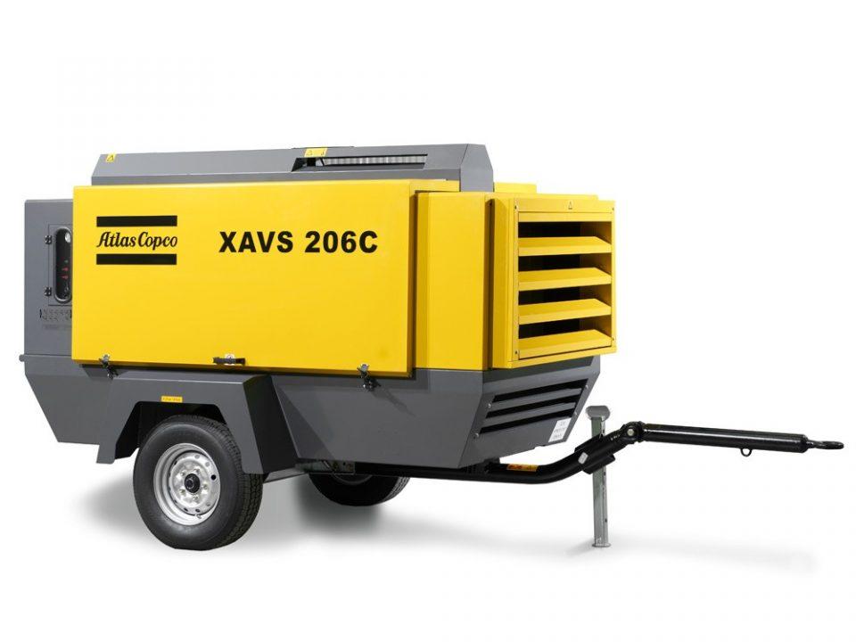 yellow air compressor brand atlas copco