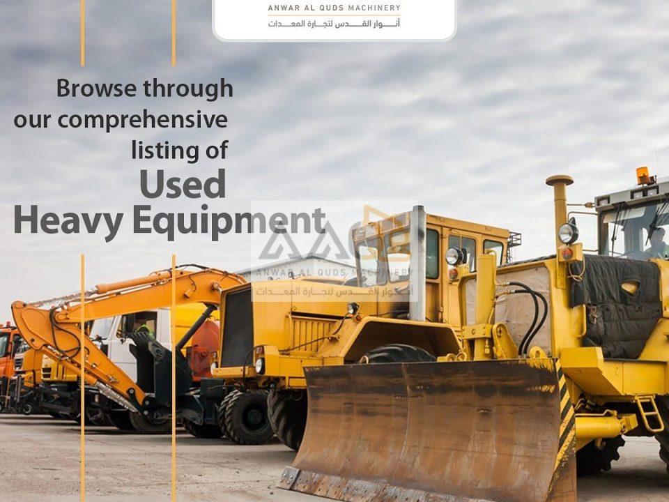 Buying Used Heavy Equipments in UAE